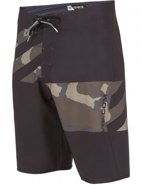 Volcom Lido Block Mod Mid Length Boardshorts in Camouflage