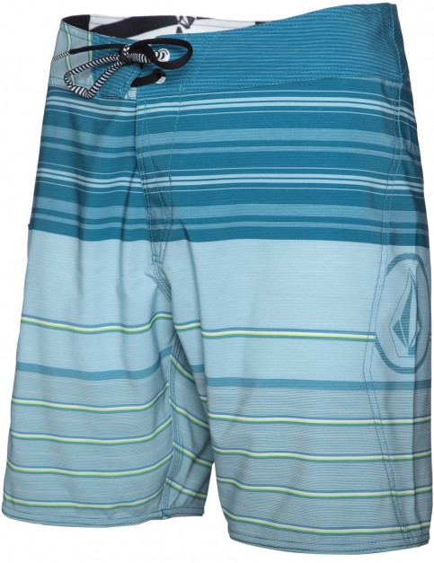 Volcom Lido Liner Mid Length Board Shorts in Tidal Blue