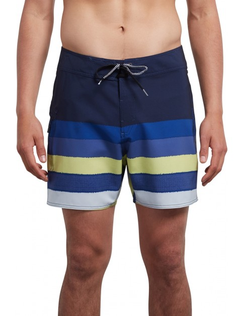 Volcom Lido Liney Mod 16 Mid Length Boardshorts in Shadow Lime