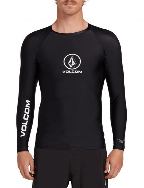 Volcom Lido Solid L/S Long Sleeve Rash Vest in Black