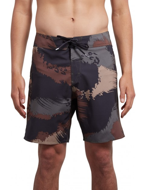 Volcom Lido Solid Mod 18 Mid Length Boardshorts in Military