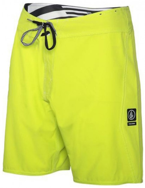 Lime Volcom Lido Solid Mod Mid Length Board Shorts