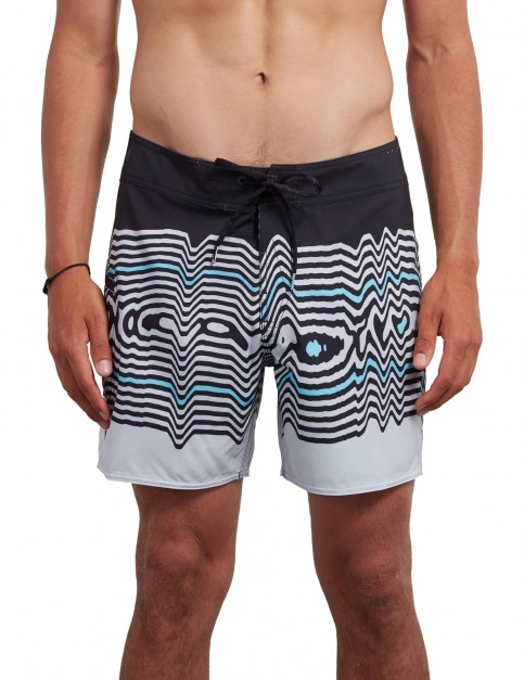 Volcom Lido Vibes Mod 16 inch Mid Length Boardshorts in Stealth