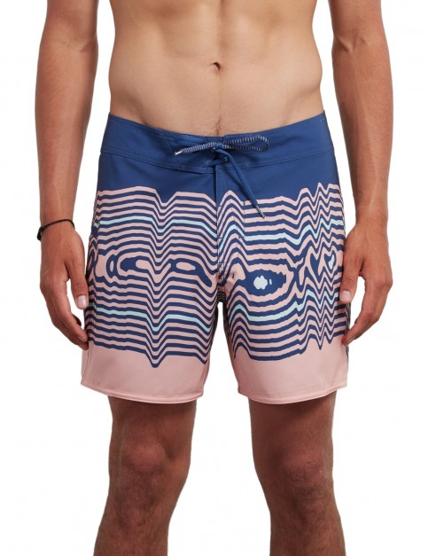 Volcom Lido Vibes Mod 16 inch Mid Length Boardshorts in True Blue