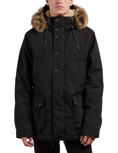 Volcom Lidward Parka Jacket in Black