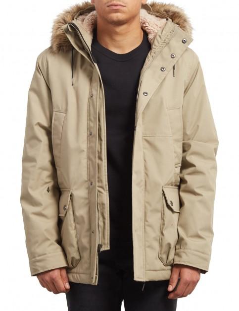 Volcom Lidward Parka Jacket in Khaki