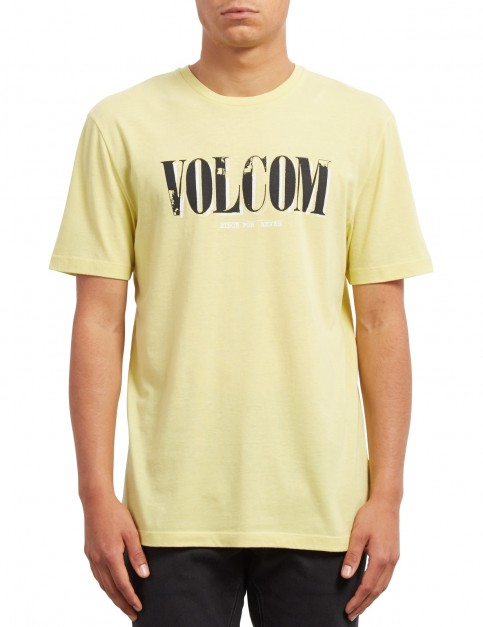 Volcom Lifer Short Sleeve T-Shirt in Acid Yellow