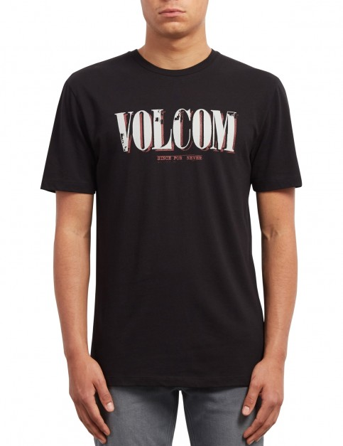 Volcom Lifer Short Sleeve T-Shirt in Black