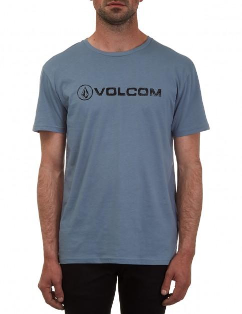Volcom Lino Euro Short Sleeve T-Shirt in Ash Blue