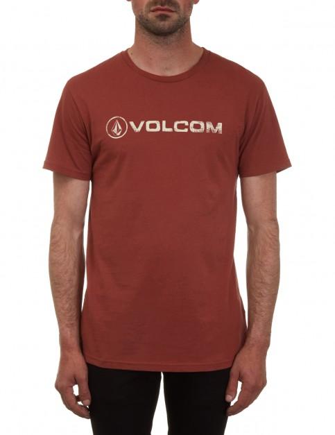 Volcom Lino Euro Short Sleeve T-Shirt in Dark Clay