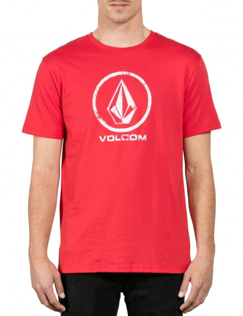 Volcom Lino Stone Short Sleeve T-Shirt in Deep Red