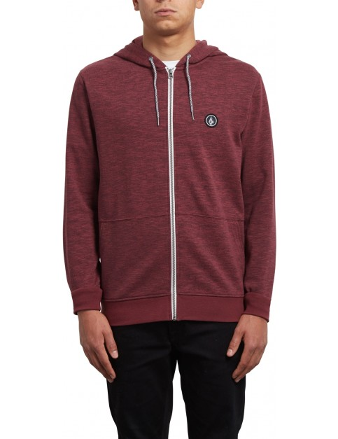 Volcom Litewarp Zipped Hoody in Crimson