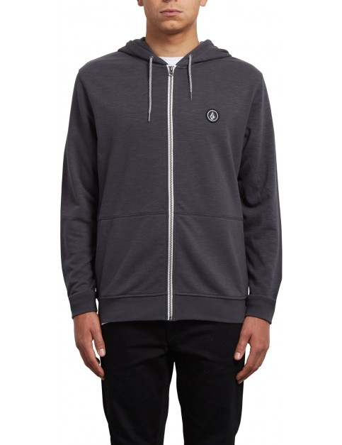 Volcom Litewarp Zipped Hoody in Heather Black