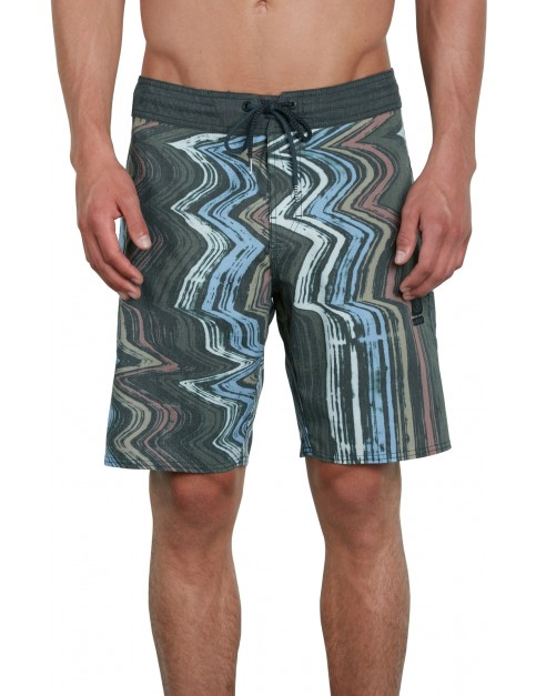 Volcom Lo Fi Stoney 19 Mid Length Boardshorts in Stealth