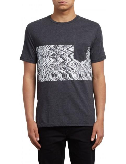 Volcom Lofi Short Sleeve T-Shirt in Heather Black