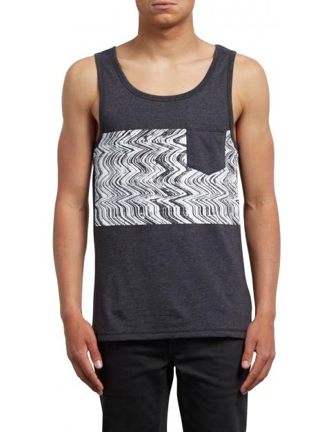 Volcom Lofi Sleeveless T-Shirt in Heather Black