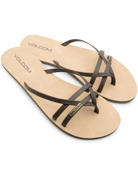 Volcom Lookout 2 Flip Flops in Brown