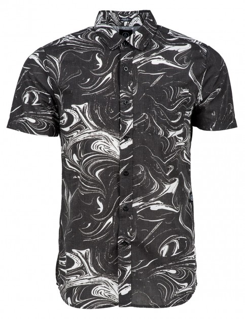 Volcom Loui Lo Short Sleeve Shirt in Black