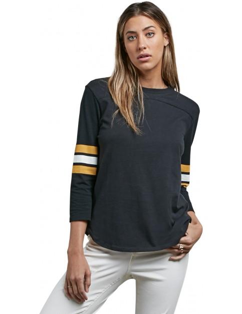 Volcom Ls Long Sleeve T-Shirt in Black