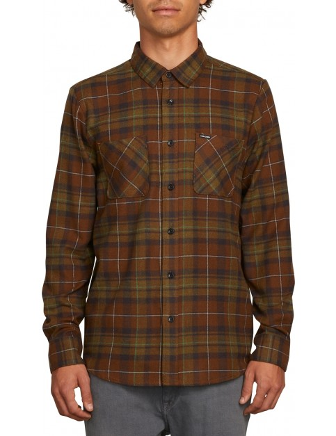 Volcom Lumberg Flannel Long Sleeve Shirt in Vineyard Green