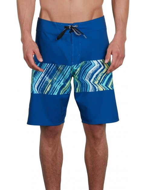 Volcom Macaw Mod 20 Mid Length Boardshorts in Camper Blue