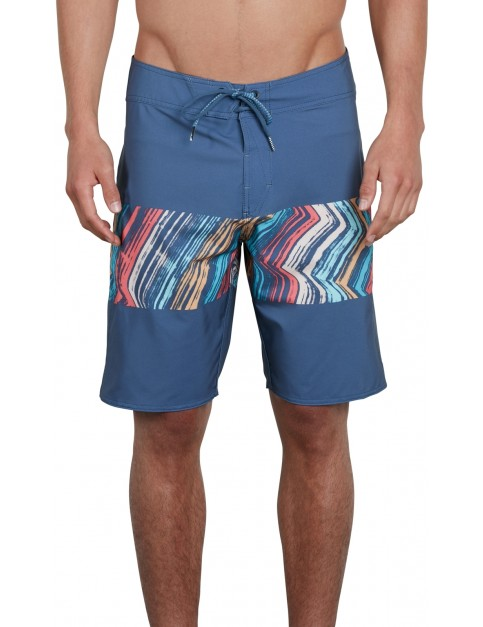 Volcom Macaw Mod 20 Mid Length Boardshorts in Deep Blue