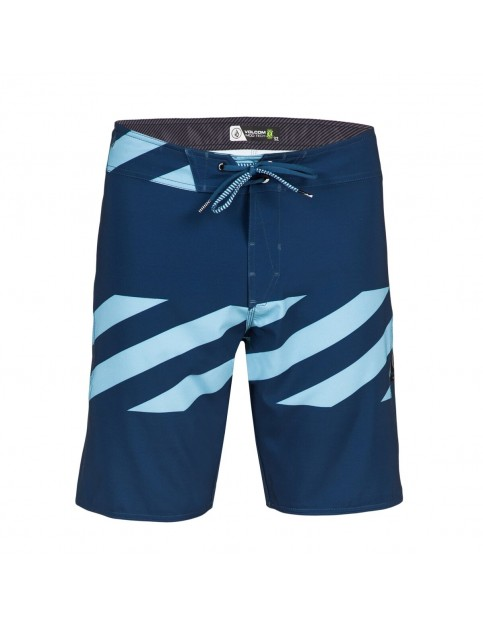 Volcom Macaw Mod Mid Length Board Shorts in Smokey Blue