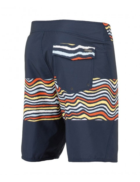 Volcom Macaw Mod Mid Length Boardshorts in Navy