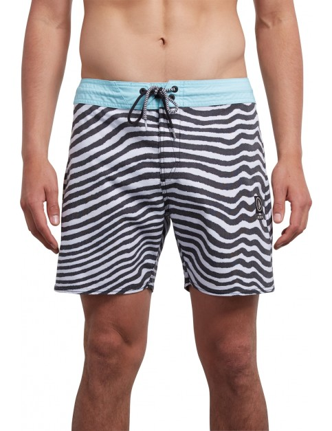 Volcom Mag Vibes Stoney 16 Mid Length Boardshorts in Pale Aqua