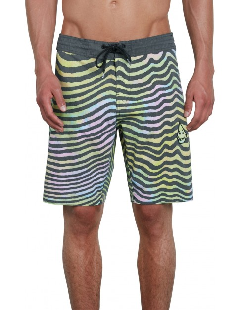 Volcom Mag Vibes Stoney 19 Mid Length Boardshorts in Multi