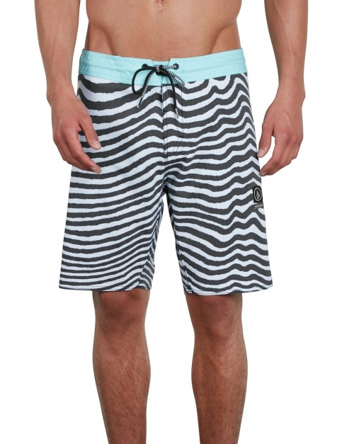 Volcom Mag Vibes Stoney 19 Mid Length Boardshorts in Pale Aqua