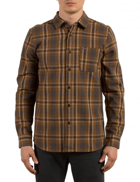 Volcom Marcos Long Sleeve Shirt in Mud