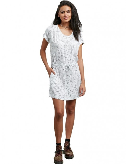 Volcom Mix A Lot Dress in Star White