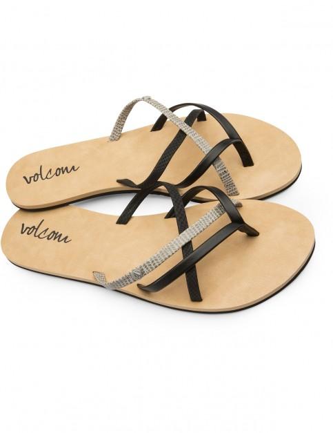 Volcom New School Flip Flops in Black Combo