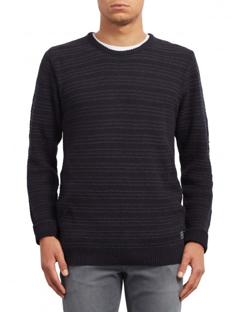Volcom New Stone Sweater Jumper in Navy