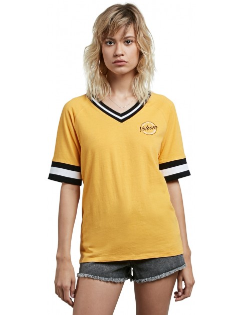 Volcom Outta Here Short Sleeve T-Shirt in Citrus Gold