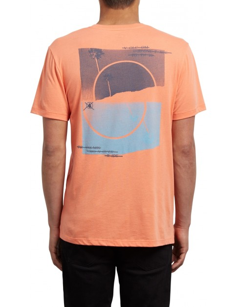 Volcom Over Ride DD Short Sleeve T-Shirt in Salmon