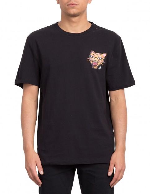 Volcom Ozzy Tiger Short Sleeve T-Shirt in Black