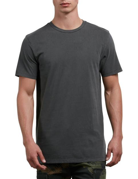 Volcom Pale Wash Solid Short Sleeve T-Shirt in Black
