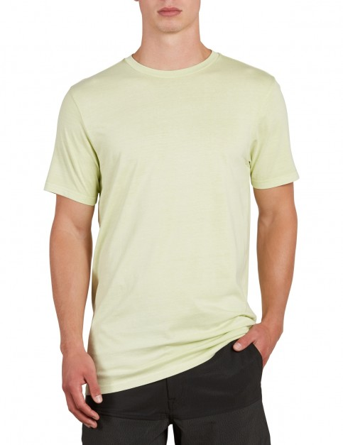 Volcom Pale Wash Solid Short Sleeve T-Shirt in Mist Green