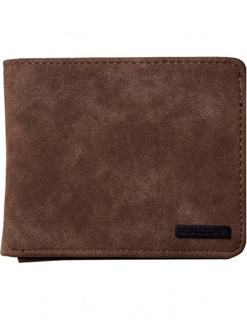 Volcom Park 3F Faux Leather Wallet in Brown