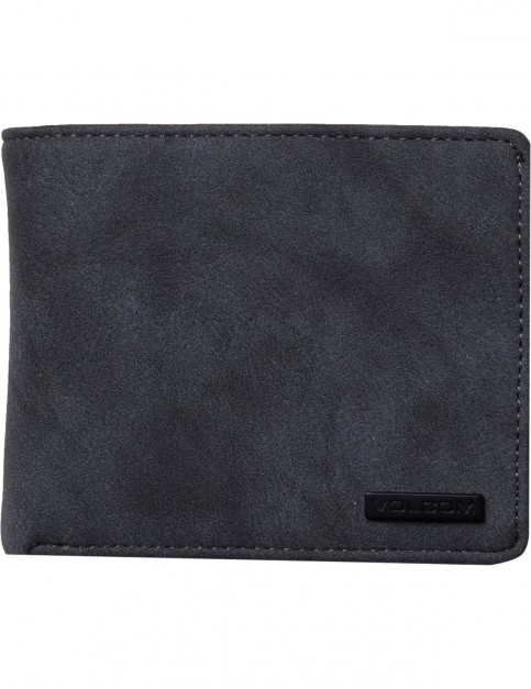 Volcom Park 3F Faux Leather Wallet in Charcoal