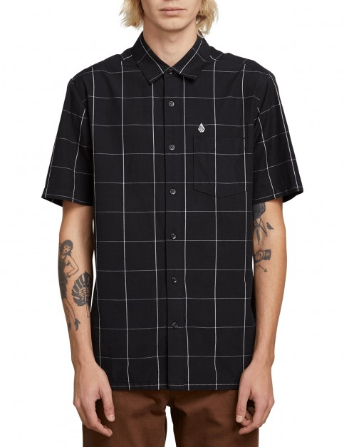 Volcom Payney Short Sleeve Shirt in Black