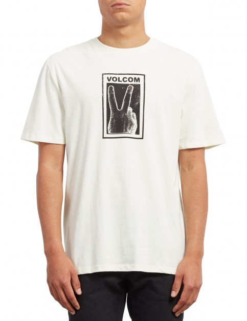 Volcom Peace Off Bxy Short Sleeve T-Shirt in Dirty White