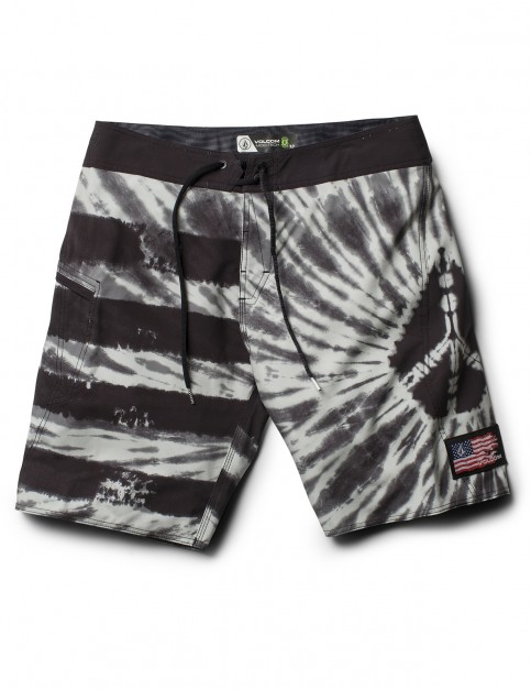 Volcom Peace Stone Mod 20 inch Mid Length Boardshorts in Grey