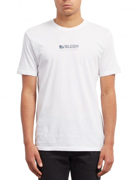 Volcom Peater Short Sleeve T-Shirt in White
