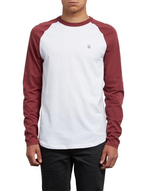 Volcom Pen Long Sleeve T-Shirt in Crimson