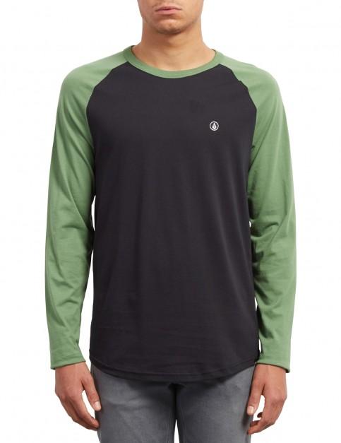 Volcom Pen Long Sleeve T-Shirt in Dark Kelly