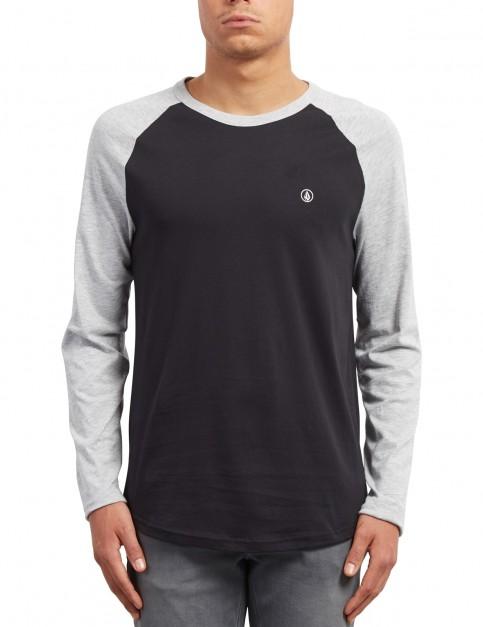 Volcom Pen Long Sleeve T-Shirt in Heather Grey