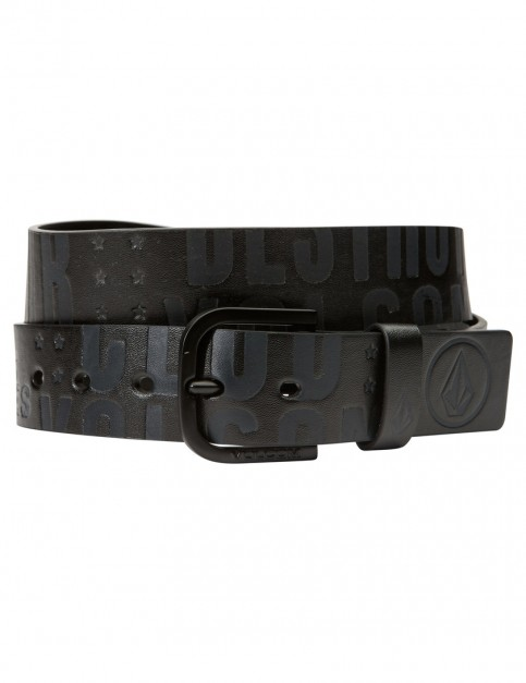 Black On Black Volcom Picto Faux Leather Belt